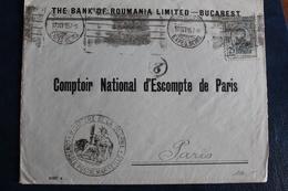 1915       LETTRE DE  ROUMANIE POUR  PARIS     AVEC  CACHET  MILITAIRE  DE  CONTROLE  POSTAL  DE  MARSEILLE    2  PHOTOS - Poststempel (Briefe)
