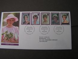 GB FDC 1998  1729-1733 Diana - FDC