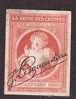 VIGNETTE J. Lesquendieu La Reine Des Cremes Rend Radieuse Pub Publicité Timbre Non Dentelé 1,9x2,5cm - Erinnophilie