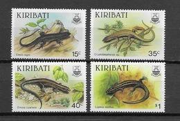 KIRIBATI Lézards N° 172 à 175 Et BF8 Neufs** Cote 11€ - Reptiles & Batraciens