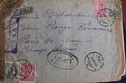 1917       LETTRE DE  ROUMANIE  POUR  PARIS     AVEC   CONTROLE MILITAIRE  POSTAL    FRANCE  ET  ROUMANIE    2  PHOTOS - Poststempel (Briefe)