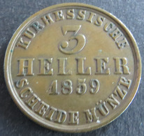 Münze Hessen-Kassel 1859 - 120 Einen Thaler Gekröntes Wappen Kupfer Ss - [ 1] …-1871 : German States