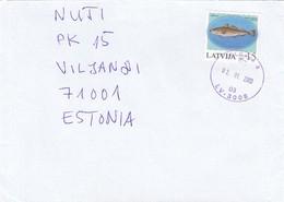 GOOD LATVIA Postal Cover To ESTONIA 2003 - Good Stamped: Fish - Latvia