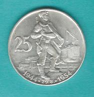 Czechoslovakia - 25 Korún - 1954 - Slovak Uprising - KM41 - Tchécoslovaquie