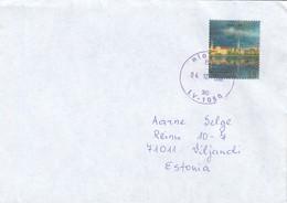 GOOD LATVIA Postal Cover To ESTONIA 2001 - Good Stamped: Riga Panorame - Latvia
