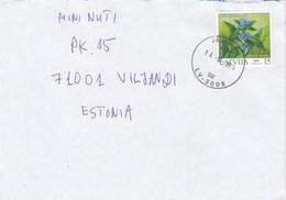 GOOD LATVIA Postal Cover To ESTONIA 2004 - Good Stamped: Flower - Latvia