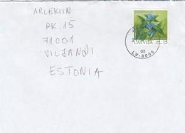GOOD LATVIA Postal Cover To ESTONIA 2004 - Good Stamped: Flower - Lettonie