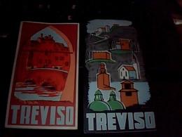 Vieux Papier 2 Depliants   Touristique  Differents Ville De TREVISO Italie Annee 1962 - Tourism Brochures