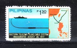 Filippine - 1977. Cavo Telecom Tra Filippine E Hong Kong. Telecom Cable Between The Philippines And Hong Kong. MNH - Telecom