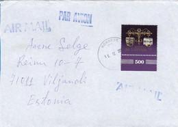 GOOD LATVIA Postal Cover To ESTONIA 2002 - Good Stamped: Europa - Latvia