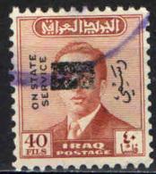 IRAQ - 1973 - EFFIGIE DEL RE FAISAL II CON SOVRASTAMPA - OVERPRINTED - USATI - Iraq