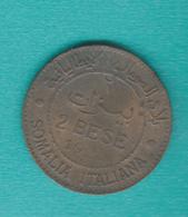 Italian Somaliland - Vittorio Emanuele III - 1921 R - 2 Bese - KM2 - Terra Di Somalia