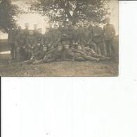 CARTE PHOTO GROUPE DE SOLDATS - Personnages