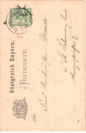 Bavaria Stationary Used Glanmuenchweiler To Sankt Johann 1896 - Bavaria