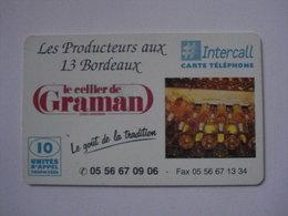 """Carte Prépayée Française  """" INTERCALL """" 10 Unités (neuve Non Gratter), Pas Signaler 100 Exemplaires - RARISSIME. - Cellphone Cards (refills)"""