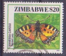 69-122 / ZIMBABWE 2001   BUTTERFLIES   Used O - Zimbabwe (1980-...)