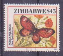 69-125 / ZIMBABWE 2001   BUTTERFLIES   Used O - Zimbabwe (1980-...)