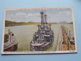 U.S.S. SOUTH CAROLINA Entering Miraflores Lake PANAMA CANAL ( N° 575 - Maduro ) Anno 1924 ( See/voir Photo ) ! - Guerre