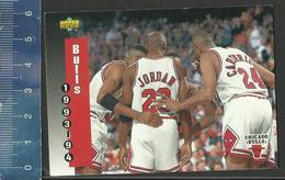 NBA UPPER DECK TRADING CARD BASKET 1993-94 SCHEDULE - N° 213 - BULLS - Singles (Simples)