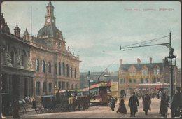 Town Hall, Cornhill, Ipswich, Suffolk, 1912 - Pickwick Series Postcard - Ipswich