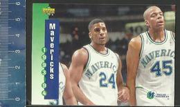 NBA UPPER DECK TRADING CARD BASKET 1993-94 SCHEDULE - N° 215 - MAVERICKS - Singles (Simples)