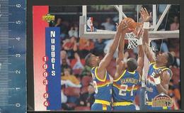 NBA UPPER DECK TRADING CARD BASKET 1993-94 SCHEDULE - N° 216 - NUGGETS - Singles (Simples)