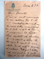 """Lettera Manoscritta """"COMANDO 3° GRUPPO DI LEGIONI CARABINIERI REALI DI ROMA"""" 1920 - Manuscripts"""