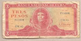 Cuba - Banconota Circolata Da 3 Pesos P-107a.1 - 1983 - Cuba