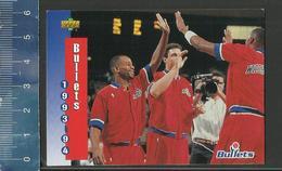 NBA UPPER DECK TRADING CARD BASKET 1993-94 SCHEDULE - N° 236 - BULLETS - Singles (Simples)