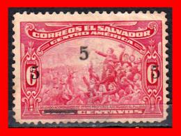 EL SALVADOR AÑO 1921 – U6 CENTAVO DELGADO ADDRESSING - El Salvador