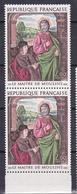 N° 1732 Oeuvres D'Art: Pierre De Bourbon Ouvre De Maître Moulins: Une Paire De 2 Timbres Neuf Sans Charnière - France