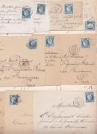 N°60A Et 60C Lots De 63 Lettres Ou Fragments Avec Variétés, 1 Recommandée, TB à étudier - 1871-1875 Ceres