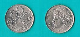 Brazil 50 Centavos 1970 -KM#580.a - Brésil