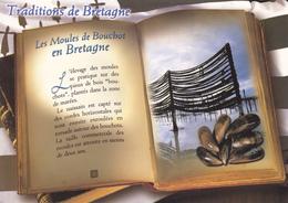 BRETAGNE / LES MOULES DE BOUCHOT EN BRETAGNE  STYLE LIVRE OUVERT - Bretagne