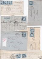 N°60C Type III, Lot De 39 Lettres Ou Fragments Avec Variétés, Lot Très Intéressant. - 1871-1875 Ceres