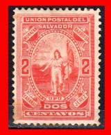 EL SALVADOR SELLO AÑO 1889 DE 2 CENTAVOS ALLEGORICAL FIGURE OF EL SALVADOR - El Salvador