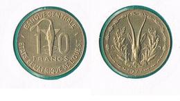 West African States  10 Francs 1977 - Monnaies