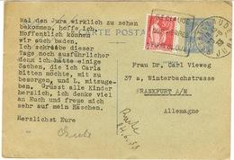 DAGUIN DE ST CLAUDE SUR ENTIER ADRESSE EN ALLEMAGNE - Marcophilie (Lettres)