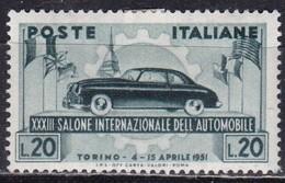 Repubblica Italiana, 1951 - 20 Lire Salone Torino - Fil. R1 - Pos. ND - Nr.146 MLH* - 6. 1946-.. Repubblica