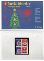 Norway Norge 1989 Christmas  Mi 1035-1036 X 2   MNH(**) In Folder - Neufs