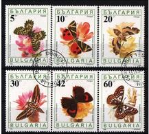 Bulgaria  1990 BUTTERFLIES SCHMETTERLINGE Mi 3852/57 Used - Papillons