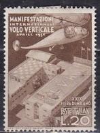 Repubblica Italiana, 1951 - 20 Lire Fiera Di Milano - Fil. R1 - Pos. DB - Nr.148 MLH* - 6. 1946-.. Repubblica