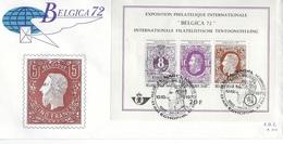 België O.B.C   FDC  Blok 48 (1551 / 1553)   Belgica 72   Brussel - Bruxelles - FDC