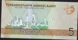TURKMENISTAN P29a 5 MANAT 2012  UNC. - Turkménistan