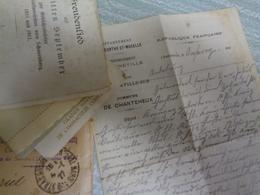 Reichsmark Photos Courrier Et Billet Vieux Papiers - Otros