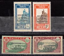 Niger - Colonie Française - 1941 Secours National - N° 89 à 92 - 4 Timbres Neufs - Niger (1921-1944)