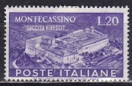 Repubblica Italiana, 1951 - 20 Lire Montecassino - Fil. R1 - Pos. CS - Nr.155 MLH* - 6. 1946-.. Repubblica
