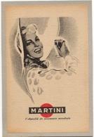 CARTON PUBLICITAIRE MARTINI THEME MARTINI BOISSON - Publicidad