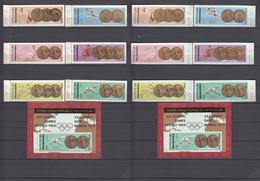 North Yemen, Y.A.R., 18.10.1968 Mi # 796-801, 803-08 Bl 78-79 Mexico City Summer Olympics, 1896-1968 Olympic Champions - Zomer 1968: Mexico-City