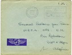ENVELOPPE ADRESSEE EN ALGERIE 1956 - Storia Postale